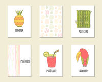 Cute hand drawn doodle birthday, party, baby shower cards Royalty Free Stock Image
