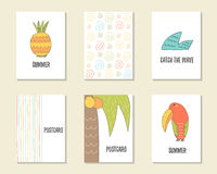 Cute hand drawn doodle birthday, party, baby shower cards Stock Images