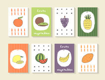 Cute hand drawn doodle cards Stock Images