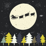 Cute hand drawn doodle Christmas background Stock Images