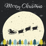 Cute hand drawn doodle Christmas background Royalty Free Stock Photography