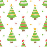 Cute hand drawn, doodle christmas tree seamless pattern background Royalty Free Stock Photography