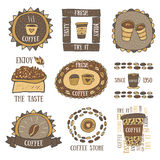 Cute hand drawn doodle coffee banner Royalty Free Stock Photography
