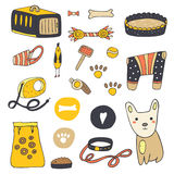 Cute hand drawn doodle dog stuff royalty free illustration