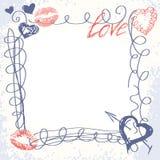 Cute hand-drawn doodle frame Stock Photos