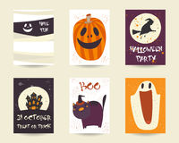 Cute hand drawn doodle halloween objects collection Stock Images