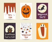 Cute hand drawn doodle halloween objects collection Royalty Free Stock Images