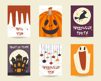 Cute hand drawn doodle halloween objects collection Stock Photo