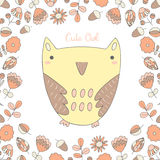 Cute hand drawn doodle owl Royalty Free Stock Photo
