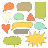 Cute hand drawn doodle speech bubbles collection Royalty Free Stock Image