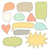 Cute hand drawn doodle speech bubbles collection Stock Photography