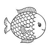 Cute Hand Drawn Fish Stock Image