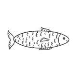 Cute Hand Drawn Fish Stock Photography