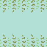 Cute hand drawn floral border Stock Photography