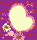 Baby Frame. Cute hand drawn  frame with flowers Stock Image
