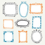 Cute hand drawn frames. Vintage photo frames Royalty Free Stock Images