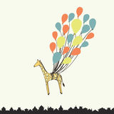 Cute hand drawn giraffe Stock Photography