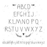 Cute hand drawn letter. Doodle type. Royalty Free Stock Photo