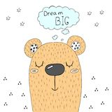 Cute hand drawn with Sketch doodle bear print. Cute hand drawn with Sketch doodle bear print Royalty Free Stock Photos