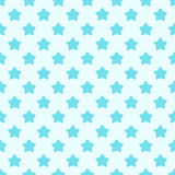 Cute hand drawn stars geometric seamless pattern. Shades of blue. Blue background Royalty Free Stock Images