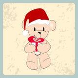 Cute hand drawn style Christmas teddy bear Royalty Free Stock Photos