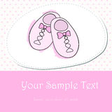Cute hand drawn style pink baby shoes Stock Images