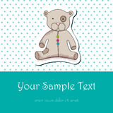 Cute hand drawn style teddy bear for baby boy Royalty Free Stock Images