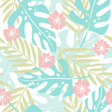 Cute hand drawn tropical seamless pattern. Stock Photography