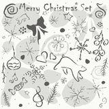 Cute Hand Drawn Winter Pattern. Seamless Texture. Vector Illustr Royalty Free Stock Photography