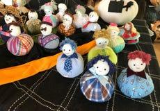 Cute tumbler doll. Cute handmade fabric tumbler doll in Thailand Royalty Free Stock Image