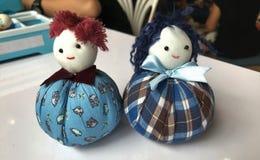 Cute tumbler doll. Cute handmade fabric tumbler doll in Thailand Stock Image