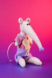 Cute handmade mouse with long nose Stock Photos