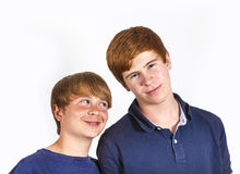Cute handsome brothers having fun together Royalty Free Stock Photo