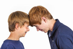 Cute handsome brothers having fun together Royalty Free Stock Photos
