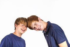 Cute handsome brothers having fun together Stock Photography