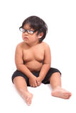 Cute handsome little boy with the glasses Royalty Free Stock Images