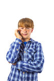 Cute handsome young boy speaking Stock Photography