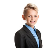 Cute and handsome young schoolboy Royalty Free Stock Photos