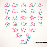 Cute handwritten font Royalty Free Stock Images