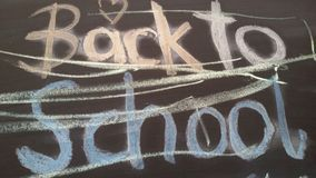 Cute handwritten text by a child. Back to school. Background for school start. Are you ready? School starts soon stock image