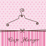 Cute hanger Stock Images