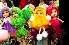 Cute Hanging Dolls for Sale Royalty Free Stock Photos