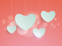 Cute hanging heart of Love. Royalty Free Stock Photo