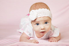 Cute happy baby portrait Royalty Free Stock Photography