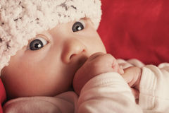 Cute happy baby portrait with big eyes Royalty Free Stock Image