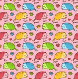 Cute happy beauty cats seamless pattern Royalty Free Stock Photos