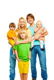 Cute happy big young family Stock Photography