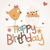 Cute happy birthday card. Royalty Free Stock Photos