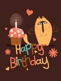 Cute happy birthday card. Royalty Free Stock Photo