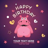 Cute happy birthday card Royalty Free Stock Images
